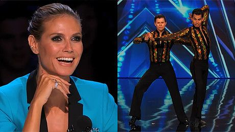 Dwóch facetów tańczy salsę w amerykańskim Got Talent