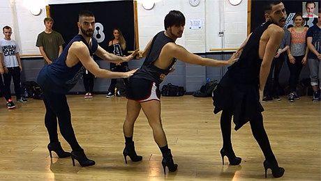 Faceci TAŃCZĄ W SZPILKACH do hitów Beyonce