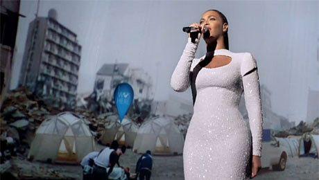 Teledysk Beyonce w ONZ cie
