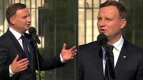 Andrzej Duda pod Pałacem Prezydenckim Tracimy powoli nasz kraj