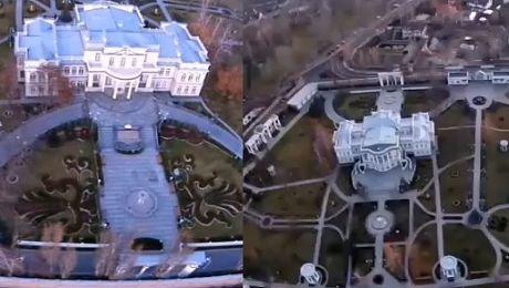 Tak wygląda pałac prezydenta Ukrainy Mamy nagranie z drona