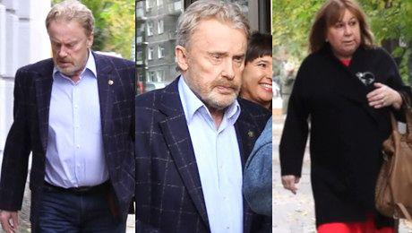 Daniel Olbrychski maszeruje dziarsko z żoną do Dzień Dobry TVN WIDEO