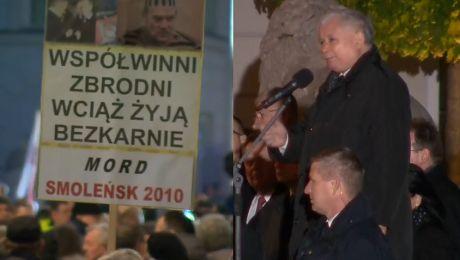 Kaczyński obraża przeciwników PiS u Te białe róże to symbol skrajnej nienawiści i głupoty