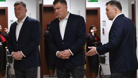 BARDZO ZDENERWOWANY Michalczewski w sądzie Boi się wyroku za atak na żonę