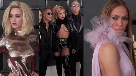 Lady Gaga Katy Perry i Jennifer Lopez na gali Grammy