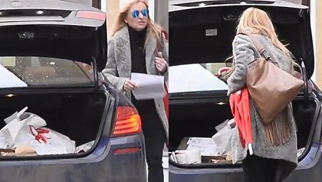 Tak wygląda bagażnik samochodu Moniki Olejnik