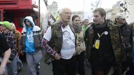 Korwin Mikke na Marszu Wyzwolenia Konopi