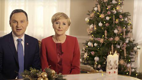 Świąteczne życzenia od Andrzeja i Agaty Dudy Pamiętajmy o przesłaniu Jana Pawła II