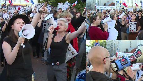 Protest przed siedzibą PiS w Warszawie Buduj te więzienia będziesz miał tam posiedzenia