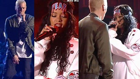 Rihanna i Eminem śpiewają Monster na MTV Movie Awards