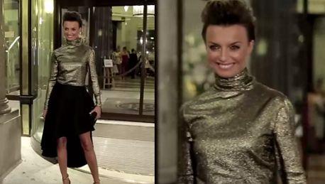 Sokołowska w golfie i butach Valentino