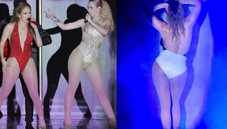 POŚLADKI Jennifer Lopez i Iggy Azalei na scenie