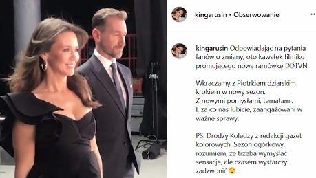 Kinga Rusin i Piotr Kraśko nagrywają spot promocyjny Dzień Dobry TVN