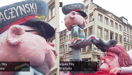 Autor karykatury Kaczyńskiego depczącego Polskę Nie miałem na myśli nic obraźliwego To karnawałowy żart