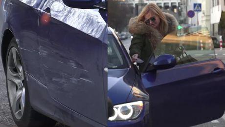 Monika Olejnik zarysowała BMW