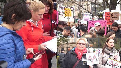 Tak wyglądał protest pod Sejmem przeciwko CAŁKOWITEMU ZAKAZOWI ABORCJI