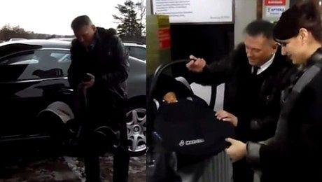 WILK Z POLSKI Rutkowski odbiera syna ze szpitala