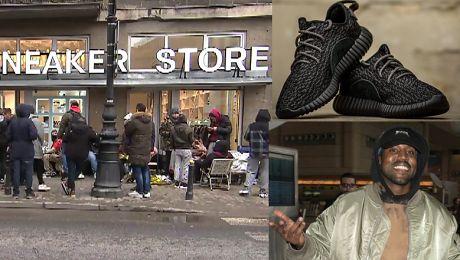 Kolejka po buty Kanyego Westa w Warszawie Fani spali pod sklepem