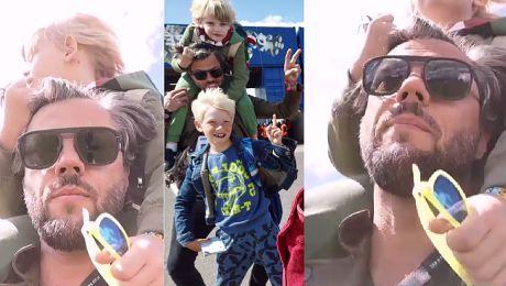 Olivier Janiak zabrał synów na Openera Janiaki na Openerze