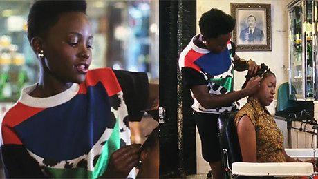Lupita Nyong o układa afrykańskie fryzury