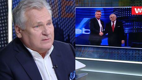 Aleksander Kwaśniewski poda rękę Jarosławowi Kaczyńskiemu To nie jest obowiązek