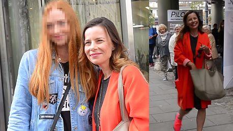 Uśmiechnięta Agata Kulesza rozchwytywana przez fanów pod TVN em
