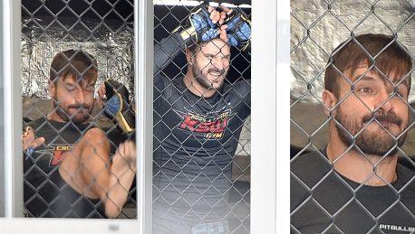 Spocony Stramowski na treningu MMA Sexy