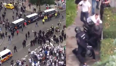 Zamieszki kibiców Legii z policją w Madrycie