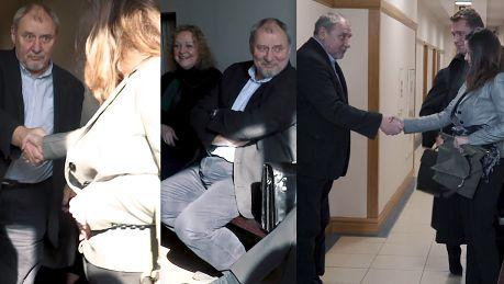 TYLKO U NAS Uśmiechnięty Grabowski na rozprawie rozwodowej