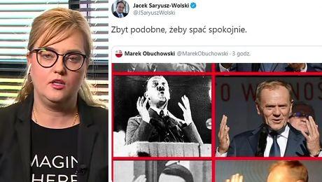 Magdalena Adamowicz o porównaniu Tuska do Hiltera To jest naganne to sianie fake newsów i mowa nienawiści