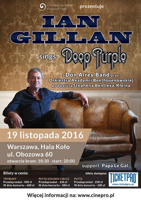 Ian Gillan w Polsce z utworami Deep Purple, Italo Disco, Euro Disco, 80's, 90's, radio station
