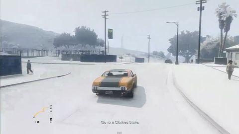 W święta w GTA V spadł... śnieg