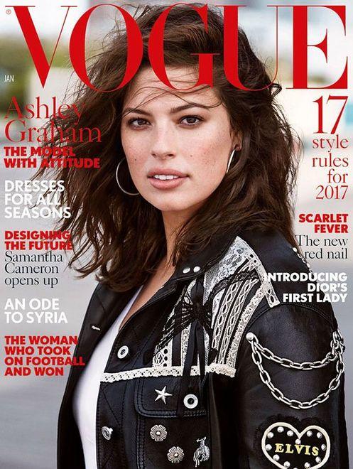"""Styczniowy """"Vogue UK"""" z Ashley Graham"""