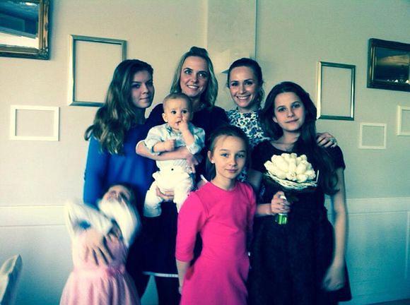 Monika Mrozowska z rodziną