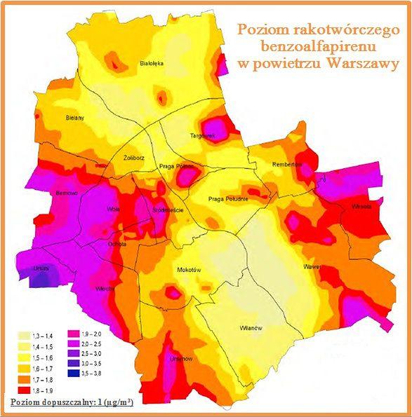 Rakotworcza Substancja W Trujacym Powietrzu Nad Warszawa Wawalove
