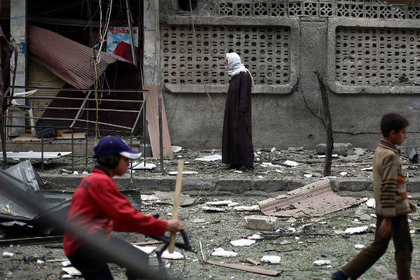 Znalezione obrazy dla zapytania atak na miasto Duma w Syrii