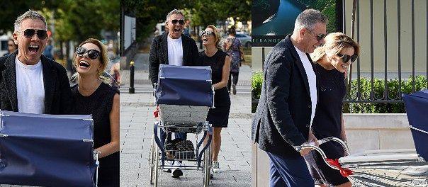 Izabela Janachowska pcha wózek za 19 tysięcy z torbą na pieluchy Fendi za 3 tysiące (ZDJĘCIA)