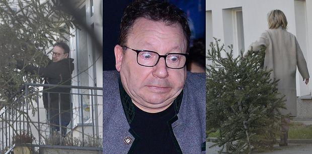 Zbigniew Zamachowski żegna wysuszoną choinkę, WYRZUCAJĄC ją z balkonu prosto w kierunku ukochanej małżonki (FOTO)