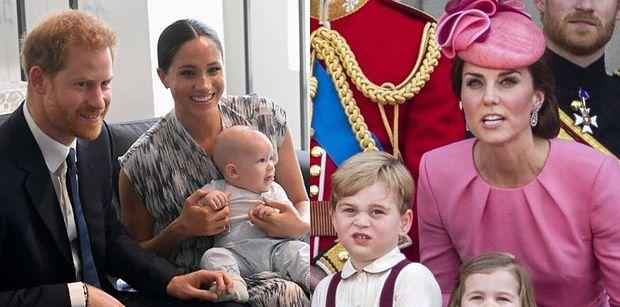 """Archie widział się z dziećmi Kate i Williama tylko DWA RAZY? Przez """"napięte relacje"""" ich rodziców..."""