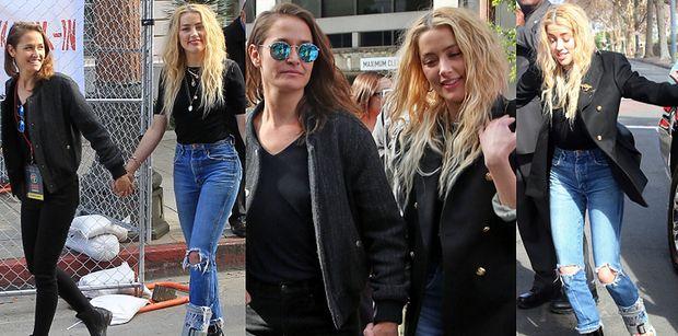 Amber Heard chwali się kontuzją i NOWĄ DZIEWCZYNĄ na Marszu Kobiet (FOTO)