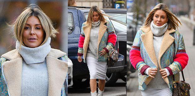 Odpicowana Małgorzata Rozenek paraduje ulicą w kozakach Fendi za 4 700 złotych i z torebką Louis Vuitton za 10 tysięcy złotych (ZDJĘCIA)