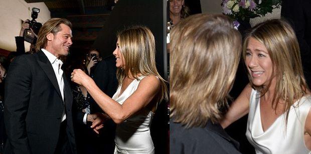 Czułości Brada Pitta i Jennifer Aniston na rozdaniu nagród SAG Awards. Mają się ku sobie? (ZDJĘCIA)