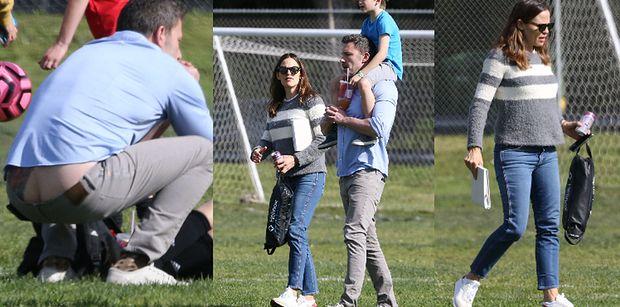 Ben Affleck niechcący pokazuje pośladki na spotkaniu z byłą żoną i dziećmi (ZDJĘCIA)