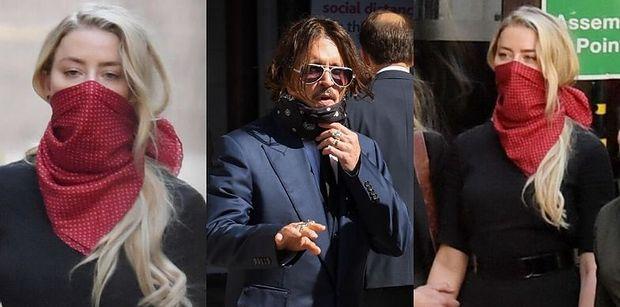 Elegancki Johnny Depp i posępna Amber Heard zmierzają na rozprawę do sądu w Londynie (ZDJĘCIA)