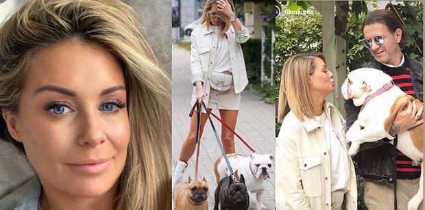 Małgorzata Rozenek chwali się zgrabnymi nogami na imprezie z psami (FOTO)