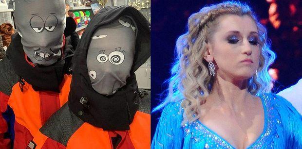 """""""Zabawny"""" Piotr Żyła pozuje z dziewczyną w masce na twarzy. Fani: """"SKOŃCZCIE TEN KABARET!"""""""