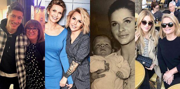 Gwiazdy świętują Dzień Matki: Robert Lewandowski, Blanka Lipińska, Małgorzata Rozenek, Julia Wieniawa... (ZDJĘCIA)