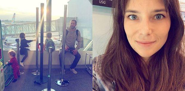 """Anna Czartoryska chwali się rodzinnym zdjęciem z lotniska: """"Odlot przed odlotem"""""""