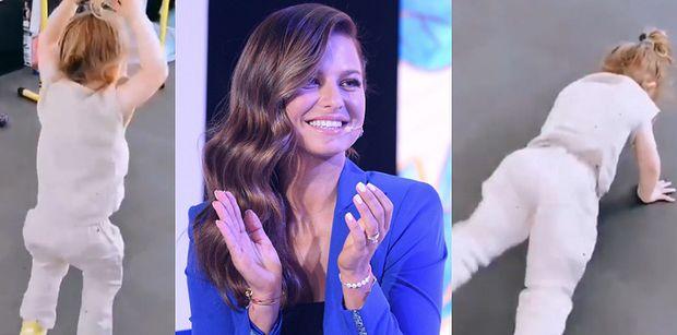 """Klara Lewandowska ZASTĘPUJE Annę Lewandowską na siłowni! Fani pod wrażeniem: """"To maleństwo ćwiczy lepiej, niż ja"""""""