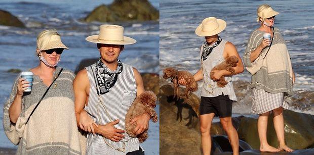 Rozanieleni Katy Perry i Orlando Bloom wyczekują narodzin pierwszej córeczki, spacerując po plaży w Kalifornii (ZDJĘCIA)